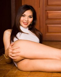 Delicate soft lips  delicate asian postop jenny in a short white mini skirt. Tiny Asian post-op Jenny in a short white mini skirt