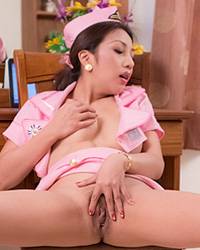Stewardess dp  srs tranny anam cums in a pink stewardess cosplay uniform. SRS shemale Anam cums in a pink stewardess cosplay uniform